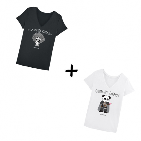 Game of Trone et Guimauve Thrones - Pack Tshirts Femme - JM Panda