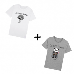 Game of Trone et Guimauve Thrones - Pack Tshirts Homme - JM panda