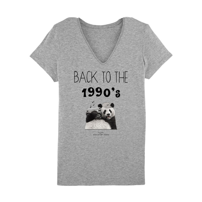 Back To The 1990's Tshirt Femme - Gris