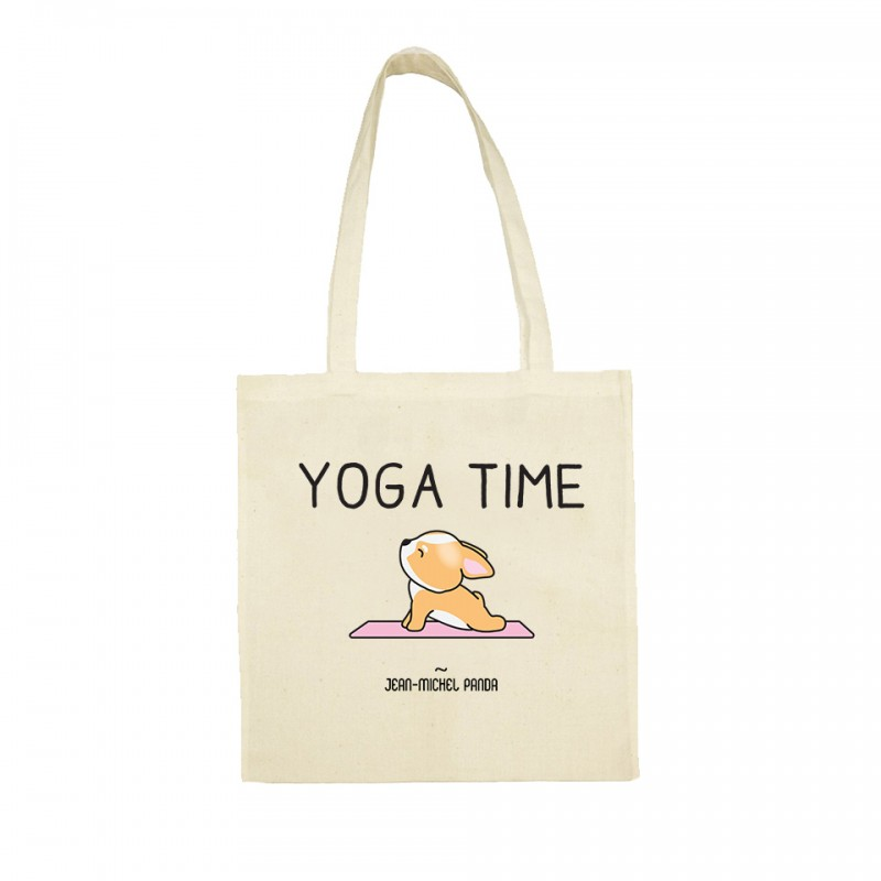 Yoga time - Totebag beige - Jean Michel Panda
