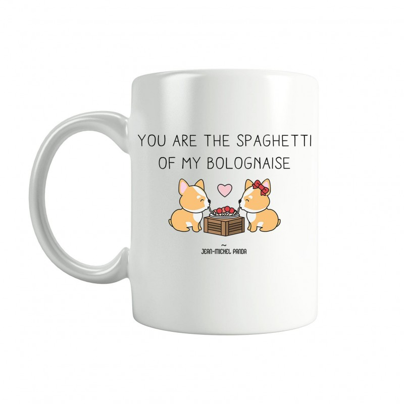 You are the spaghetti of my bolognaise - Tasse blanche - Jean Michel Panda