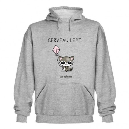 Sweat capuche - Cerveau lent
