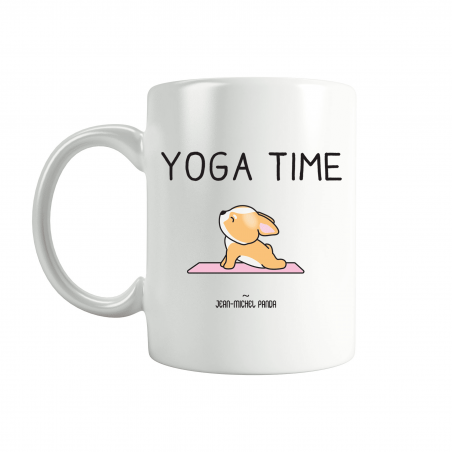 Yoga time - Mug blanc en céramique