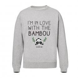 I'm in love with the bambou - Sweats gris Unisex - Jean Michel Panda