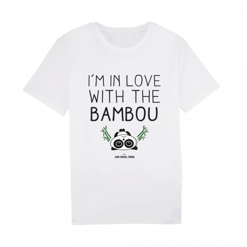 I'm in love with the bambou - Tshirt Homme - Blanc - Jean Michel Panda