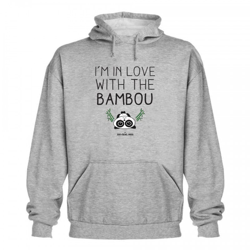 I'm in love with the bambou - Sweat capuche - Gris - Jean Michel Panda
