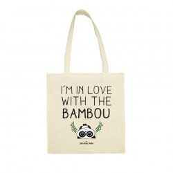 I'm in love with the bambou - Totebag beige - Jean Michel Panda